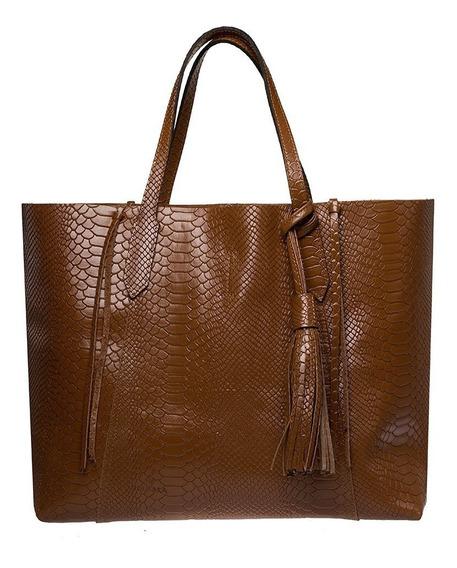 Bolsa Negra Tote Shopper 100% Piel Moda Original