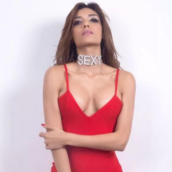 Gargantilha Blogueira Sexy Em Strass