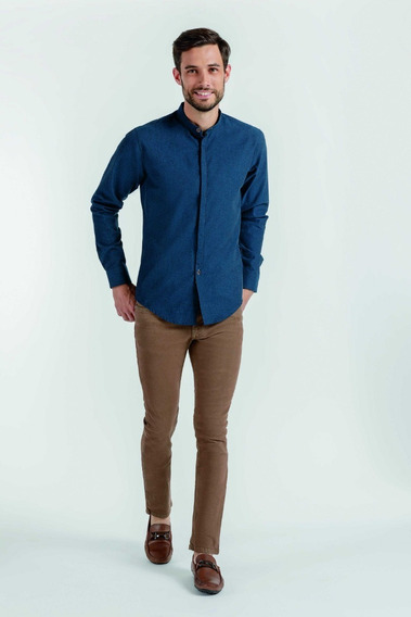 Camisa Casual Para Caballero Azul Peaceful Bl1307