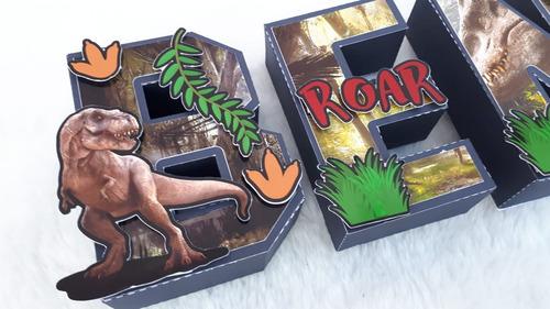 Letras 3d Dinosaurios Jurassic World Decoracion Candybar X6