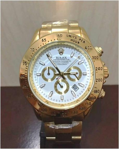 Relógio Daytona Gold 40mm Unissex Novo Com Caixa