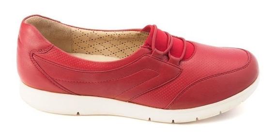 Zapatos Onena 1101 Damas Deportivo Rojo Piel 22 -28.5