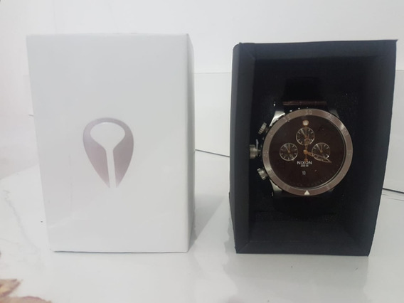 Nixon Chrono Leather Brown Gator ( Novo Na Caixa)