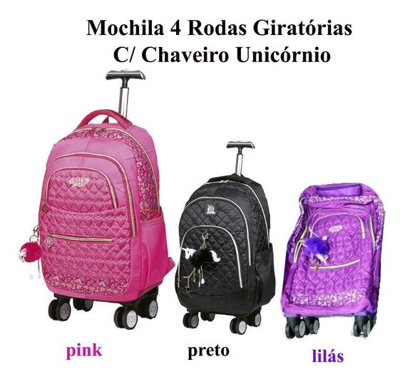 Mochilete Feminina (g) Escolar 4 Rodas Giro 360 Mc3766