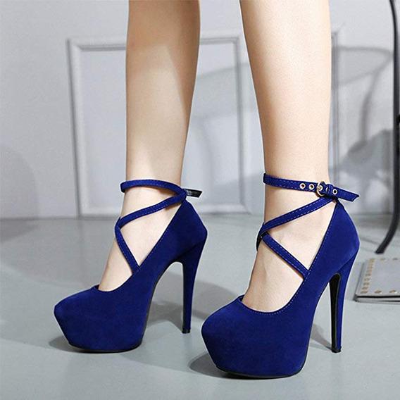 Zapatos De Plataformas De Dama, Zapatos De Tacón Alto De Fi