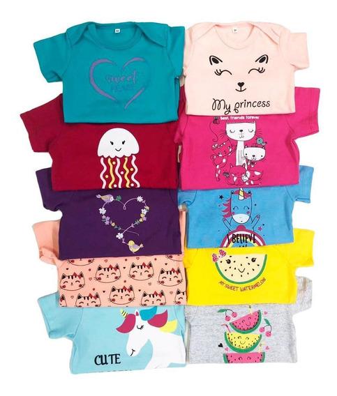 Kit 10 Peças Body Bebê Infantil Roupa Menina