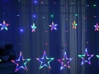 Cascada Led Estrellas Multicolor 3 Metros