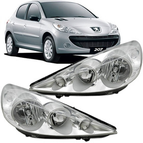 Par Farol Peugeot 207 2007 2008 2009 2010 2011 2012 Cromado
