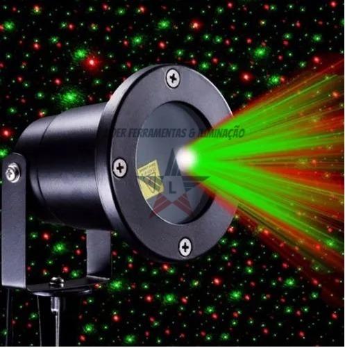 Refletor Show Laser Natal Casa Sala Arvore Ponto De Luz