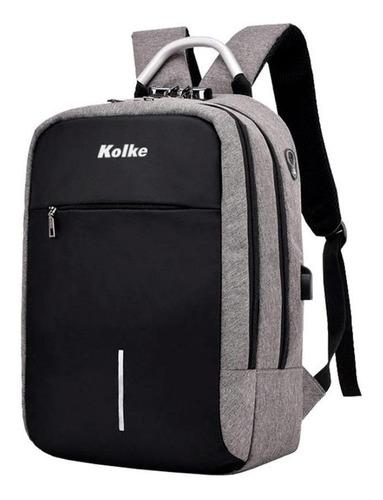 Mochila Para Notebook Anti Robo Kolke Con Candado Kvm-338