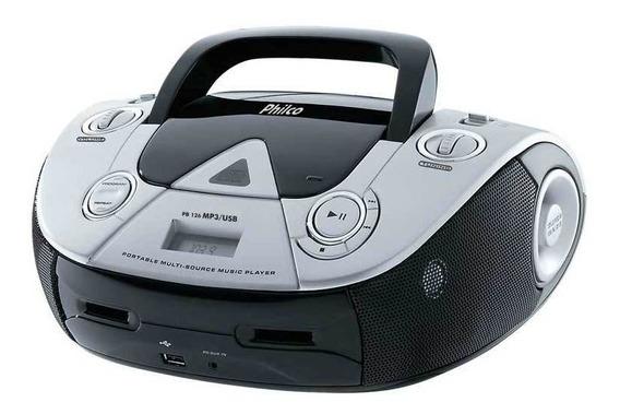 Boombox Philco Com Cd Rádio Fm Entrada Usb Reproduz Mp3 Disp