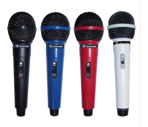 Imagen 1 de 4 de Microfono Dinam Unidireccional American Sound Tdm-208 Negro