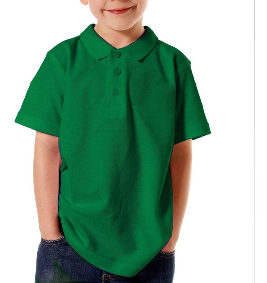 Playera Lisa Tipo Polo Infantil Unisex National Style