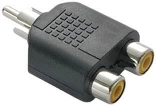 Adaptador Plug Rca M Para 2 Jack Rca F Com 50 Peças - 9708