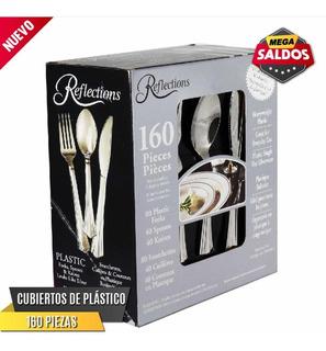 Tenedores, Cuchillos Y Cucharas De Plástico 160pzs