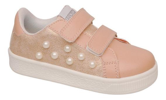 Zapatillas Sneackers Niña Plumitas Abrojos Perlas