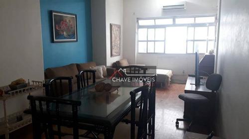 Imagem 1 de 16 de Apartamento Com 3 Dormitórios À Venda, 100 M² Por R$ 430.000,00 - Gonzaga - Santos/sp - Ap2855