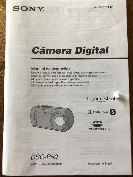 Manual Câmera Sony Dsc-p50