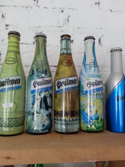 Antiguas Botellas Vacias De Cerveza Quilmes