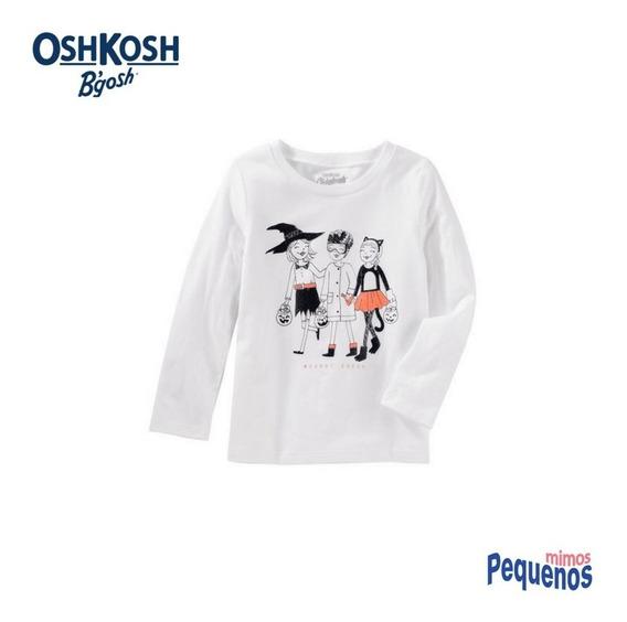 Camiseta Manga Longa Menina Bruxinhas Oshkosh