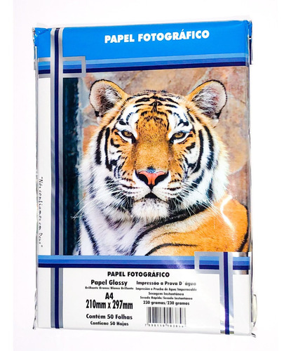 Papel Fotográfico A4 Glossy 230g 200 Folhas Masterprint