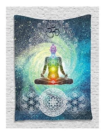 La Decoración India Tapiz Yoga Por Ambesonne, Mandala De La