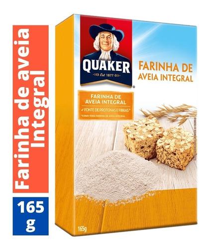 Imagem 1 de 3 de Quaker Farinha De Aveia Integral Quaker 1 Unidade Caixa 165g