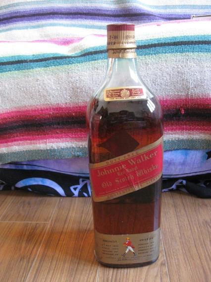 Botella De Johnie Walker Red Label 3.75 Lts Cerrada En Caja