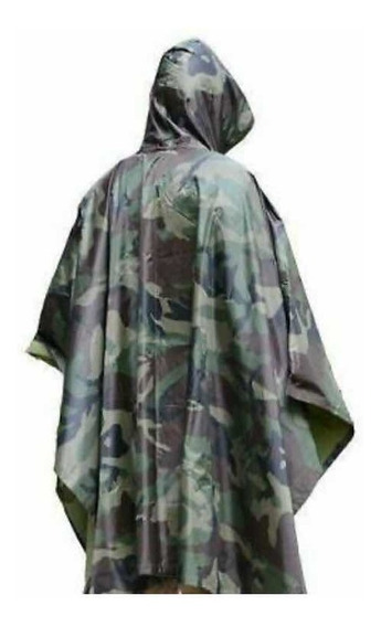 Impermeable Poncho Camuflaje Adulto 100% Calidad Onky