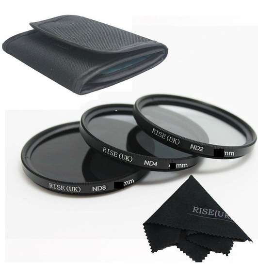 52mm Kit De Filtro Nd2 + Nd4 + Nd8 + Case Canon Nikon Sony