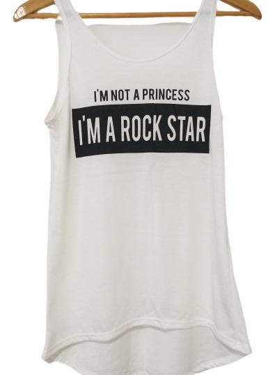 Remera Rock Musculosa Princess