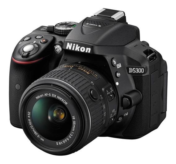 Nikon D5300 18-55mm VR Kit DSLR negra