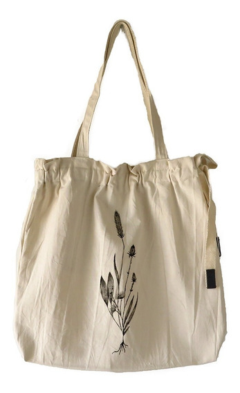 Tote Bolso Shopping Bag Tela Regulable Pintado A Mano Large