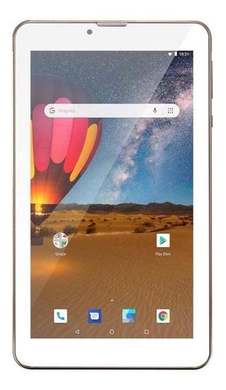 """Tablet Multilaser M7 3G Plus Dual NB30 7"""" 16GB dourado com memória RAM 1GB"""