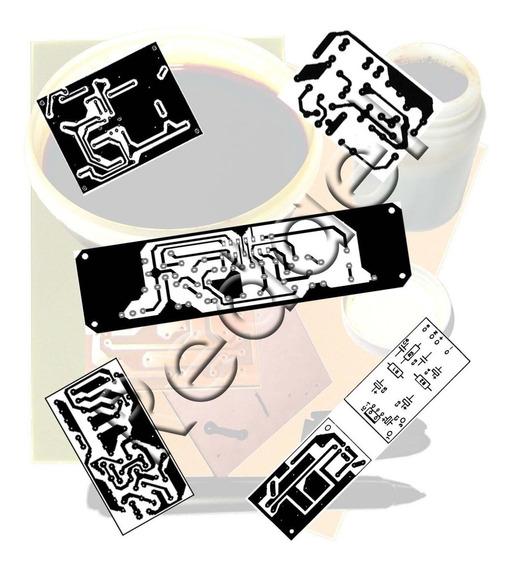 5 Folhas Transfer Pci Imprimir Placa De Leds Fenolite Fibra
