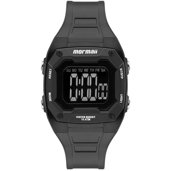 Mormaii Mo9451ab/8p Relogio Digital Lcd Negativo Pequeno Unissex Wr100 Cronometro Alarme Cronometrô Data Nf P. Entrega