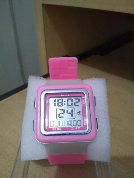 Relógios,xinjia Feminino Esportivo, Rosa Frete Gratis