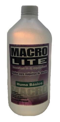 Liquido Maquina De Humo Macrolite Basico 1 Litro Premium