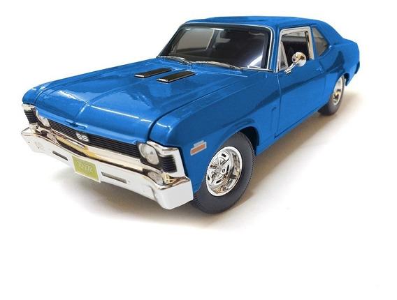 Auto De Coleccion Chevy Nova Ss 24 Cms A Escala 1/18 Romemut