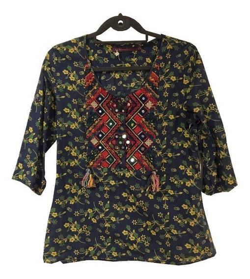 Blusa Camisola Combinación De Estampados 1ª Marca De Plaza