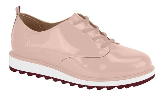 Sapato Tênis Infantil Oxford Nude Verniz Molekinha P C+