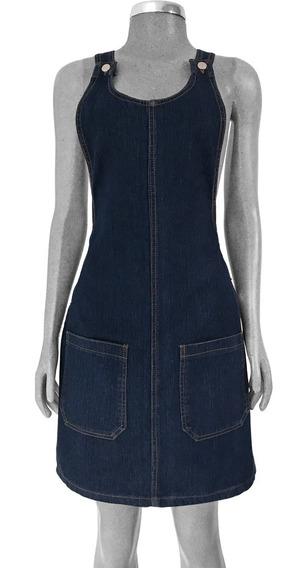 Jumper Falda Mezclilla Bolsa Overol Peto Body Suit Jumpsuit