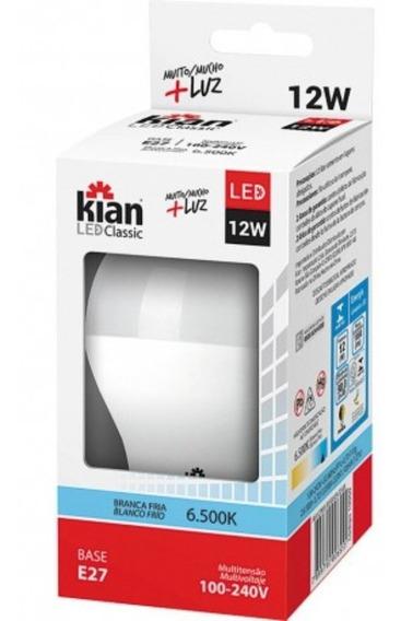 Kit 30 Lampada De Led 12w Residencial Branca Kian 6500k