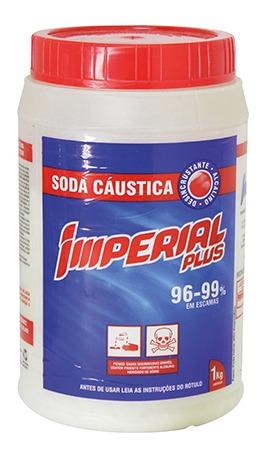 Soda Caustica Imperial 1kg Pote