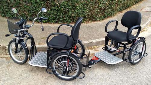Imagem 1 de 12 de Reboque ( Engate ) Para Triciclo Elétrico Marca Wind Bikes