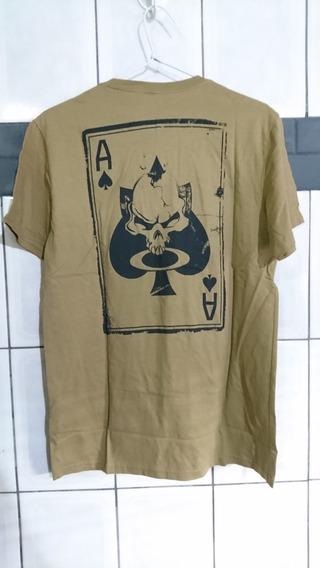Camiseta Oakley Masculina Death Card Caveira Desert Elite