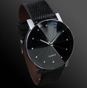 Relógio De Aço Inoxidável + Pu Strap Homem De Couro De Quart