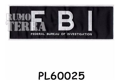 Bordado Patch Termocolante - Fbi - Pl60025