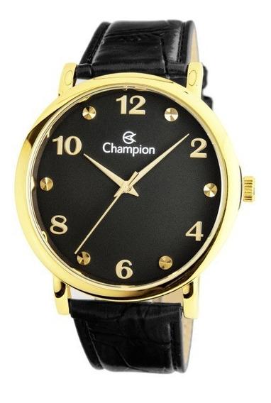 Relógio Masculino Social Champion Cn20659p Puls De Couro