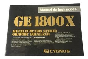 Raro Manual Cygnus Ge 1800 X - Formato Digital!!